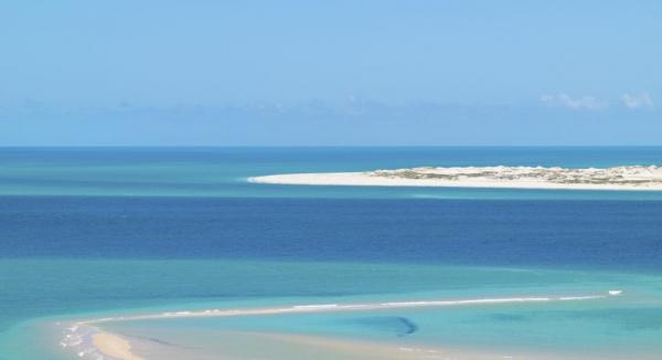paysage de carte postale de l'archipel de Bazaruto