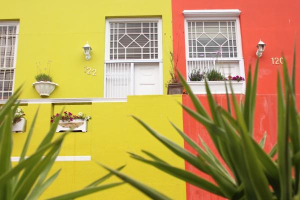maisons colorées typiques de bo-kaap, le quartier malais du cap