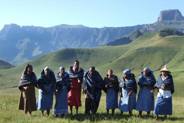 Equipe Guesthouse dans le Drakensberg sur fond de montagnes
