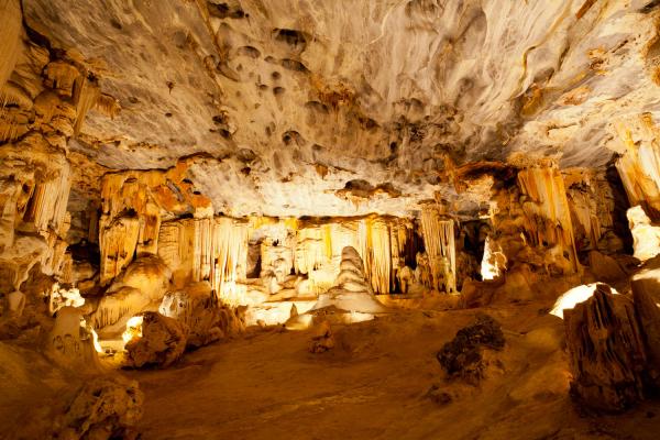 A Oudtshoorn, zoom sur l'intérieur des caves Cango avec ses stalactites
