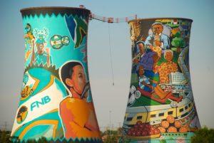les deux tours colorées de Soweto à Johannesburg