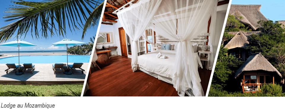 lodge au mozambique surplombamt la mer avec piscine et grande chambre