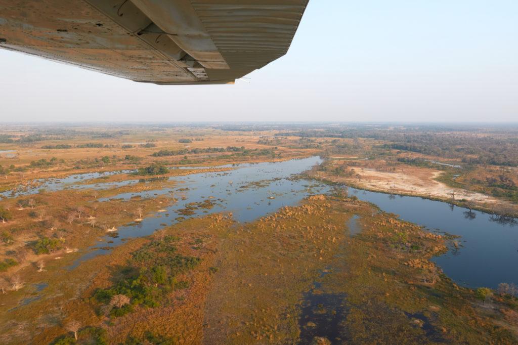 les marias de lynianti et sa nature sauvage vu depuis un petit avion