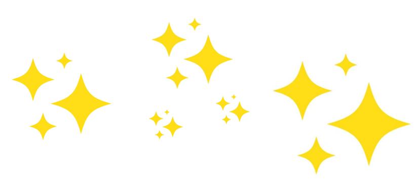 Icones représentant des étoiles relatives à la magie du Cap