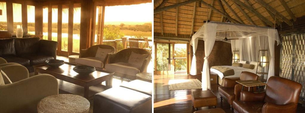 Hébergement avec une belle chambre disposant d'un lit avec moustiquaire