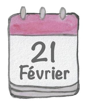 Un calendrier dessiné annonçant la date du voyage signature ekima