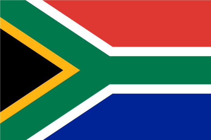 Le drapeau de l'Afrique du Sud
