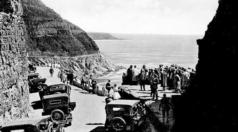 Cape Town autrefois, lors de l'inauguration de la route Chapman's Peak