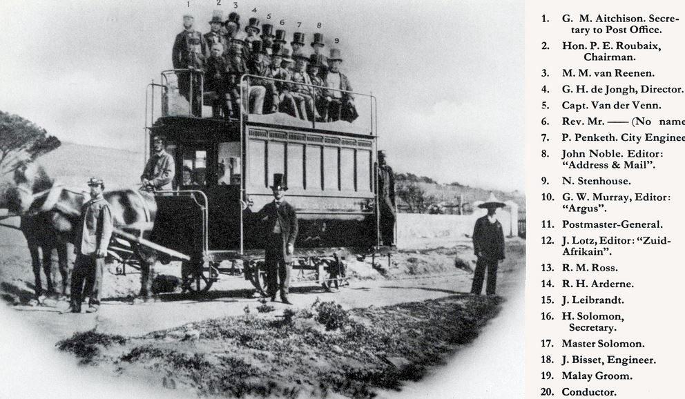 Le Cape Town historique de 1863 pour l'inauguration du train à cheval