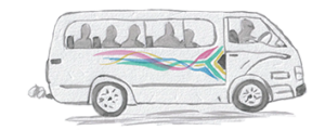 Icône dessin taxi collectif conduite afrique du sud