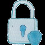 Icône dessin cadenas sécurité