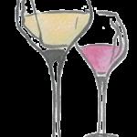 Icône dessin alcool verres de vin